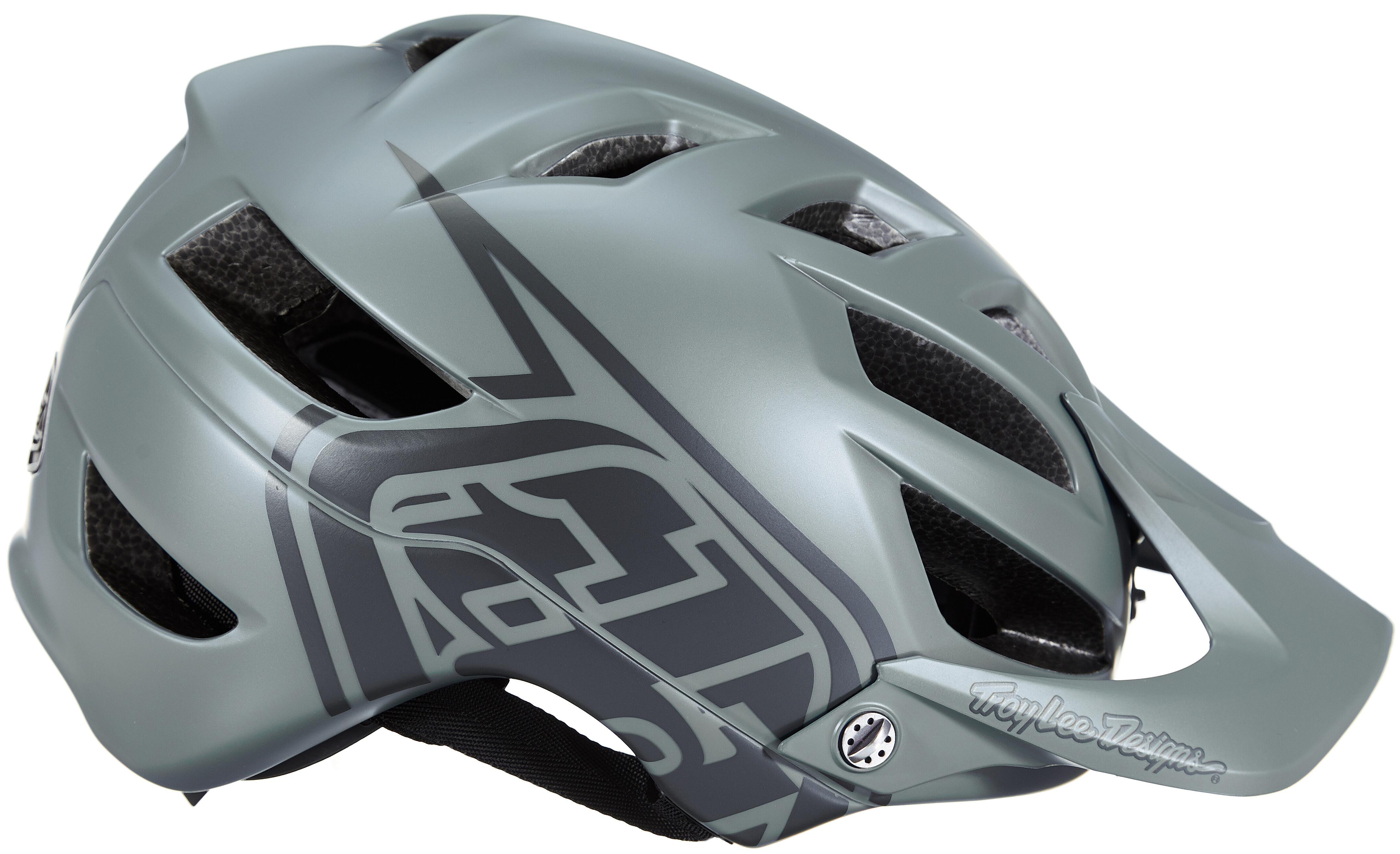 Troy Lee Designs A1 Drone MTB Bike Helmet Grey//Ocean
